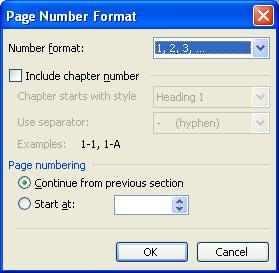 Page numbers in microsoft word.?