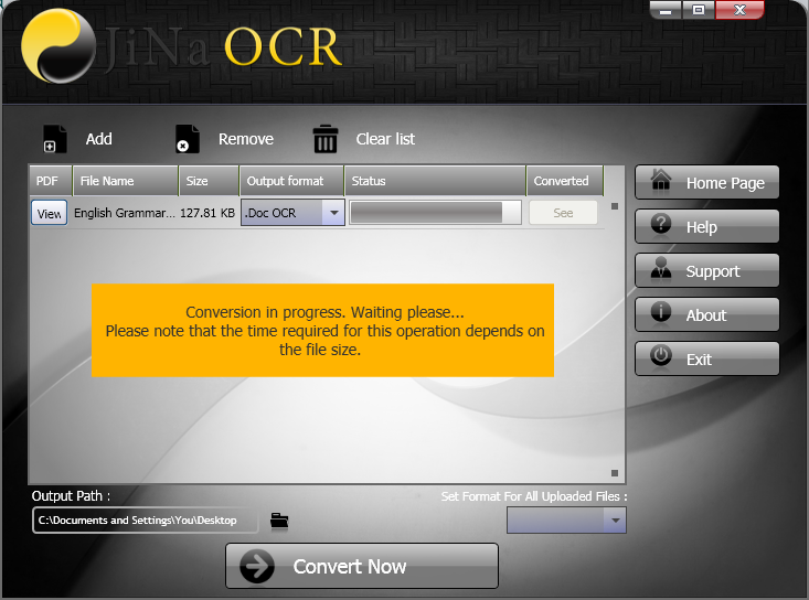 JiNa OCR Converter Screenshot 6