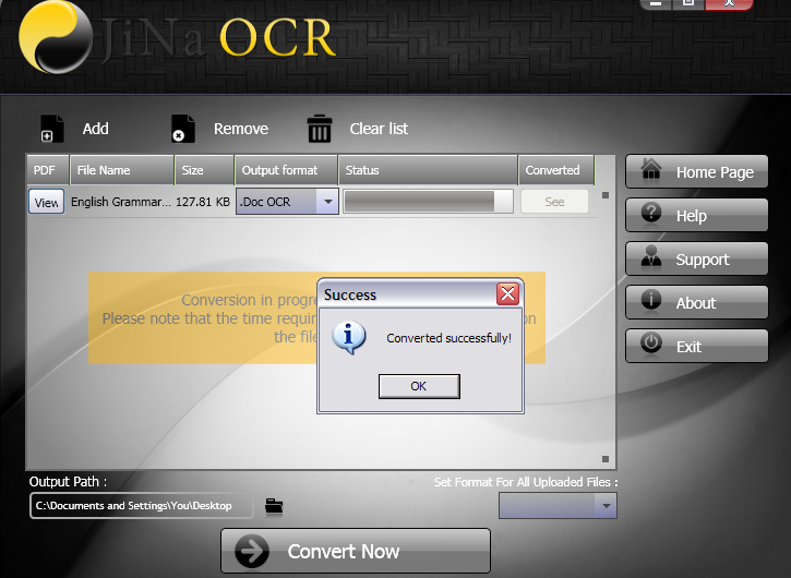 JiNa OCR Converter Screenshot 5